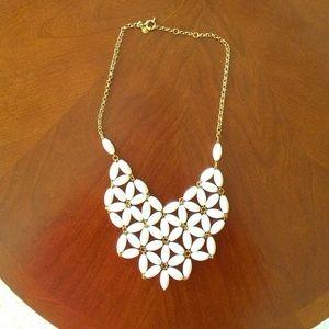 J. Crew White Tessellate Bubble Necklace